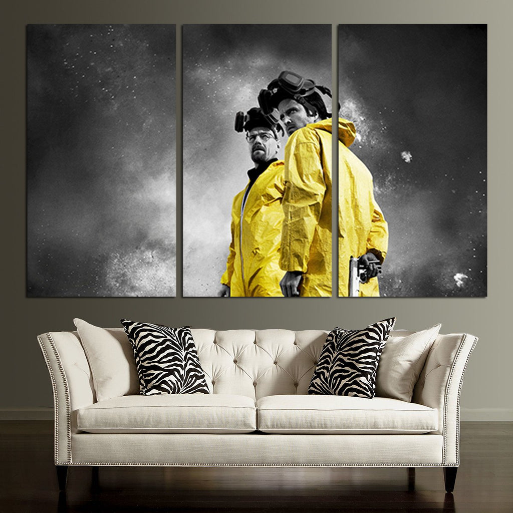 3 Panel Walter White And Jesse Wall Art Canvas – Anime Hacks