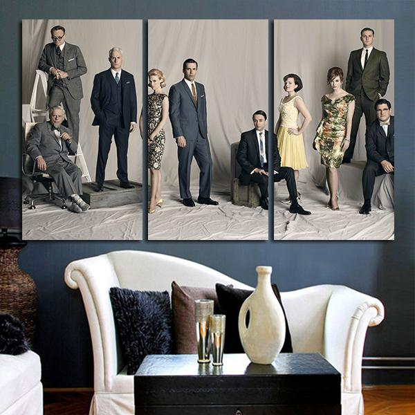 3 Panel The Mad Men Drama Wall Art Canvas – Anime Hacks