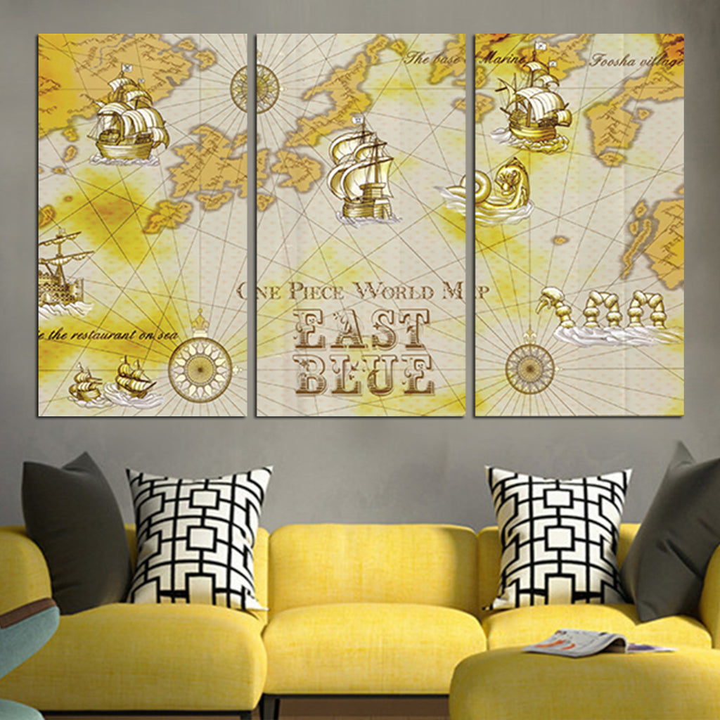 One Piece East Blue Map Wall Art Canvas – Anime Hacks
