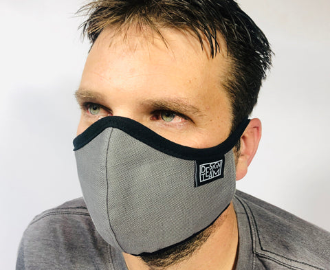 Face Mask Plain Grey