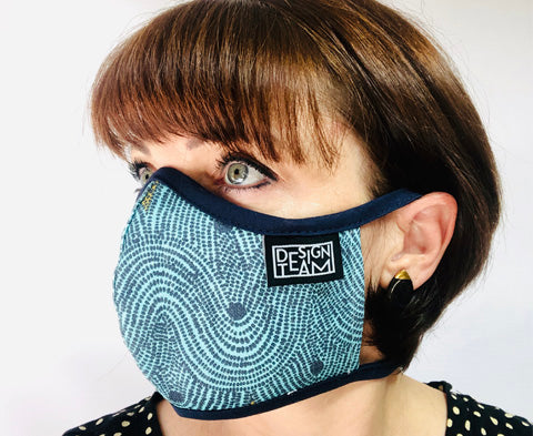 Face Mask Small Crop Field Aqua