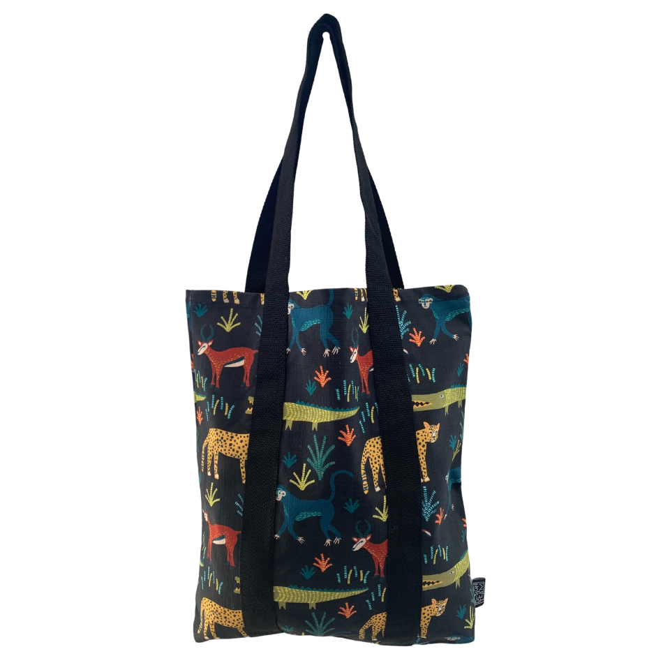 Safari Charcoal Tote Bag