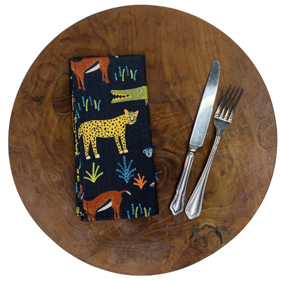Napkin Set of 2 Safari Charcoal