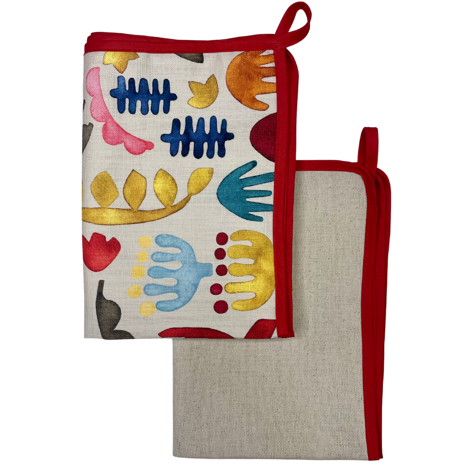 Kukua with Red Binding Kitchen Towel set of 2