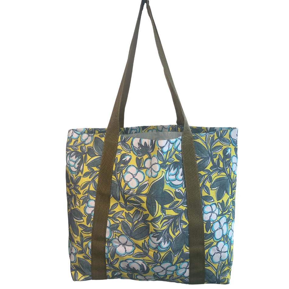Cotton Lime Grocery Bag
