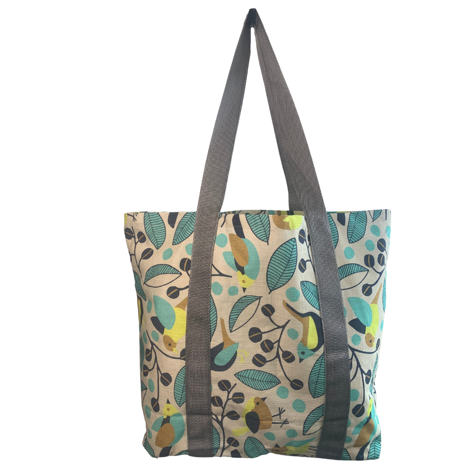 Flutter Blue Grocery Bag