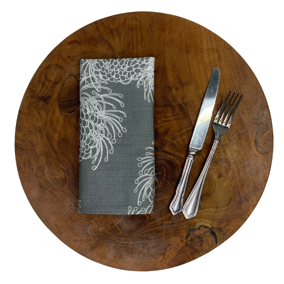 Napkin Set of 2 Garden Bloom Grey