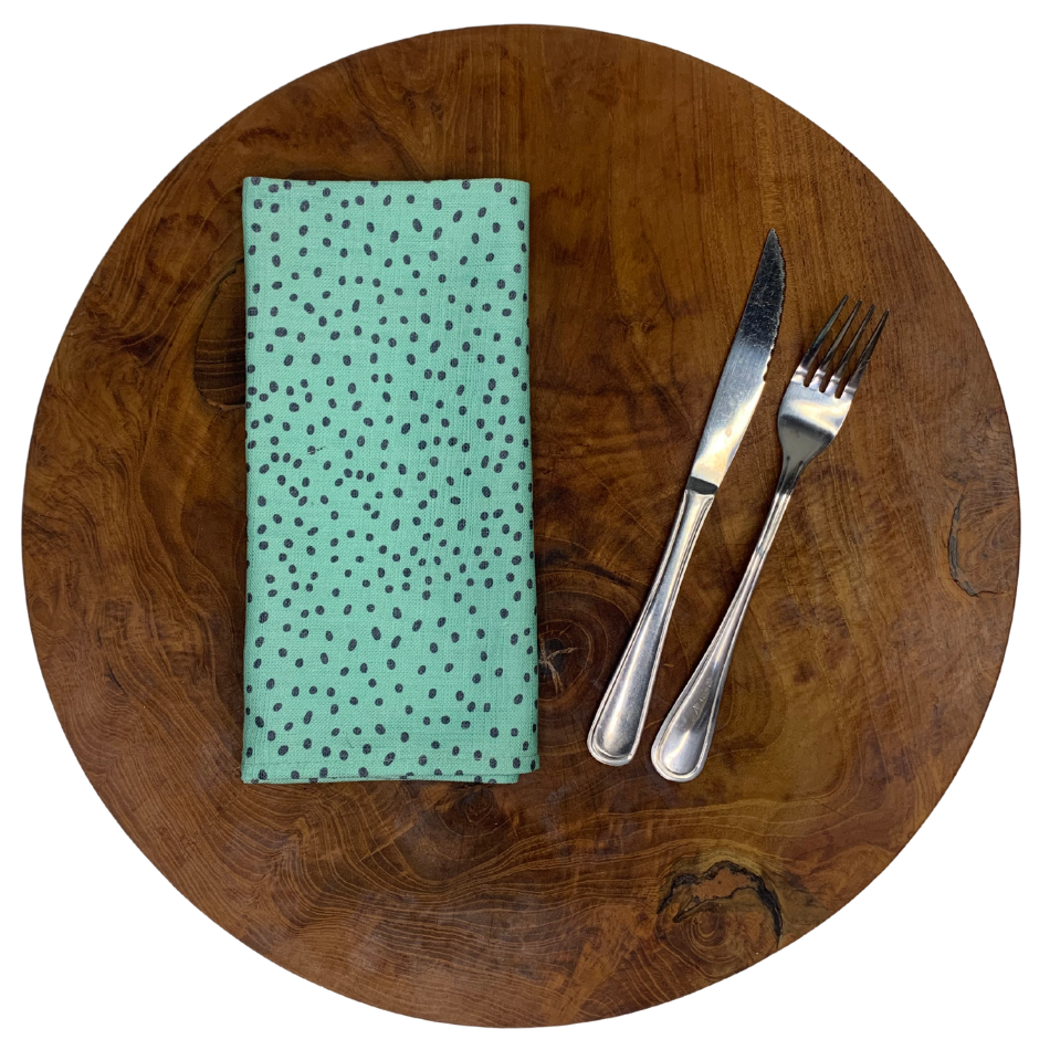 Napkin Set of 2 Spikkel Aqua