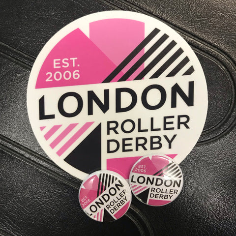 LONDON ROLLER DERBY NEW LOGO stickers and badges