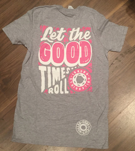 Old logo. Let the good times roll unisex T 2017 play off Tee.
