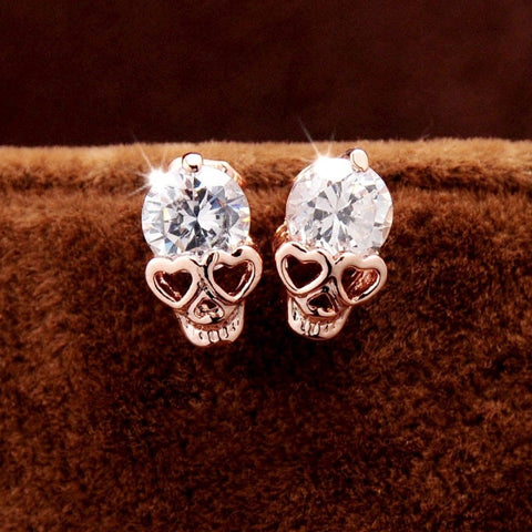 Crystal Skull Earrings *