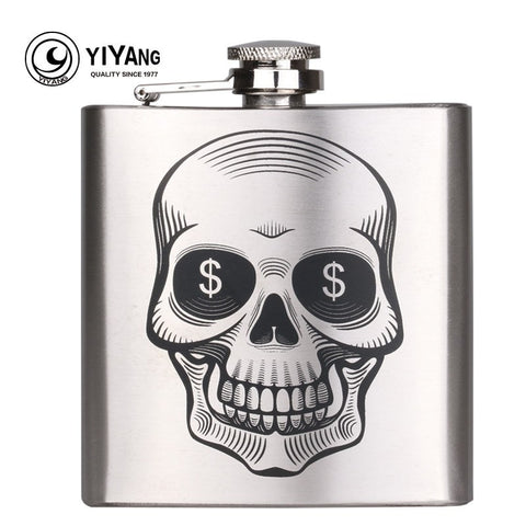 Skull Liquor Flask (6oz 180ml)