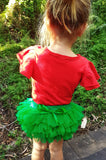 Christmas Green Tutu Ruffle Bum