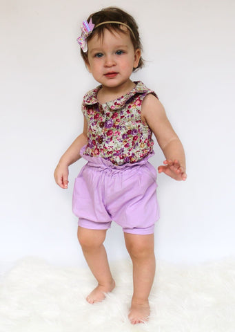 Lavender High Waisted Shorts