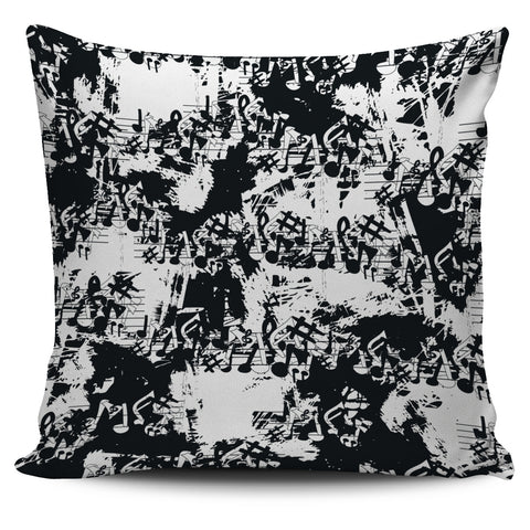 Music Note Grafitti Pillow