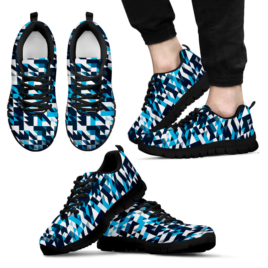 Mens Sneakers Blue pixels