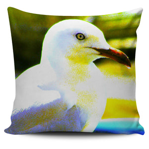 BLUE AND GREEN SEAGULL Pillow Cover