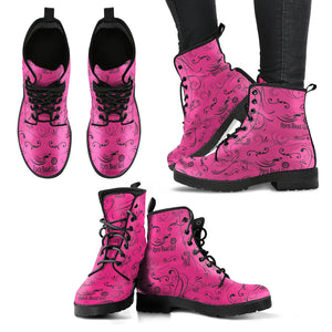 PINK Open Road Girl Color Scattered Women's Leather Boots