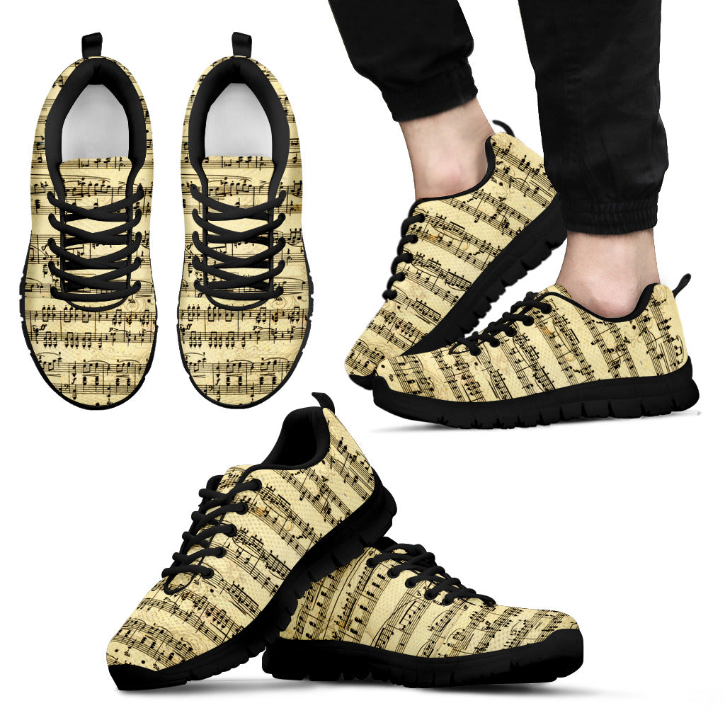 Sheet Music Shoes. Mens Sneakers