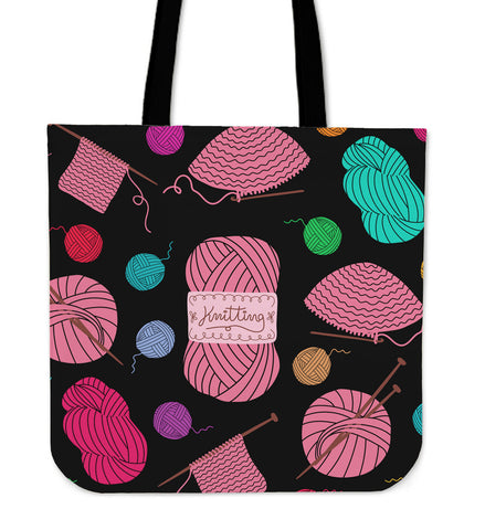 Awesome Knitting Tote Bag For Knitting Lovers