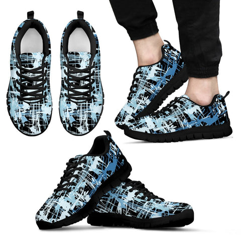 Image of Blue Grafitti Shoes. Mens Sneakers.