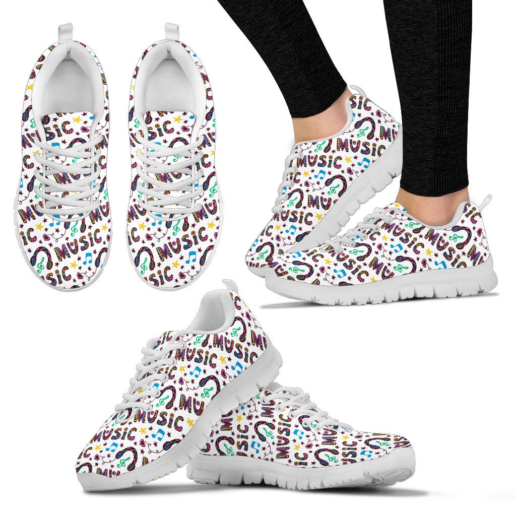 Music is my life Womens Sneakers