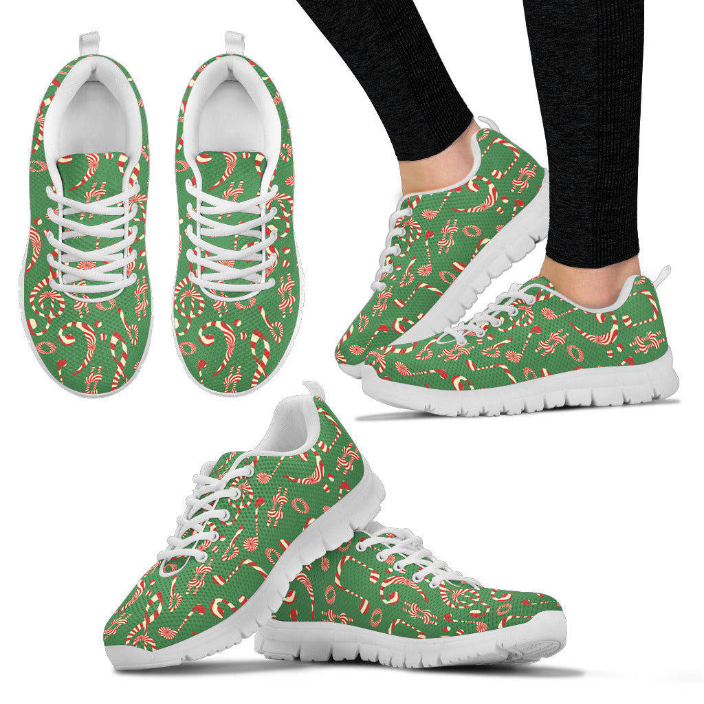 Womens Sneakes. Christmas Candy Music Shoes