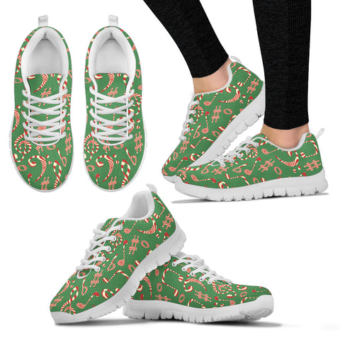 Image of Womens Sneakes. Christmas Candy Music Shoes