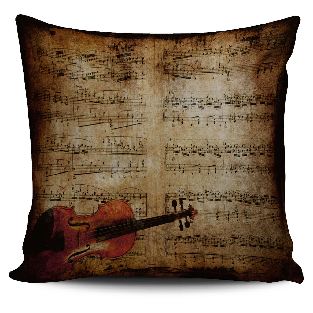 Sheet Music Violin Pillow