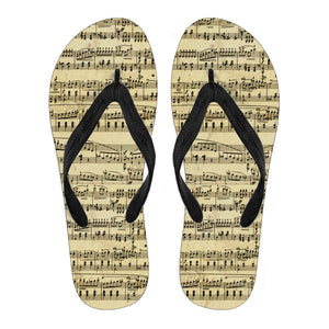 Sheet Music Design Womens Flip Flops