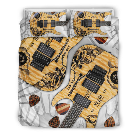Paranormal Guitar Therapy Bedding Set Supreme for Lovers of Music & Guitars