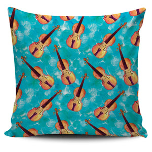 Turquoise Violin Pillow