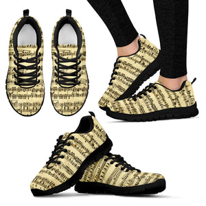 Sheet Music Shoes. Womens Sneakers