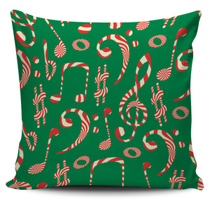 Christmas Notes and Clefs Pillow