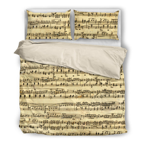 Sheet Music Bedding Set