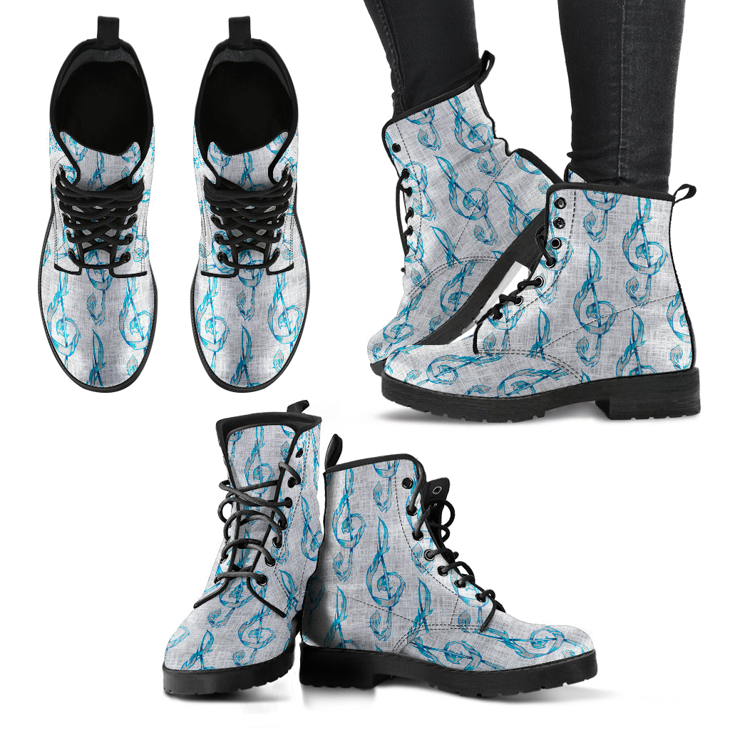 Treble Clef Shoes. Womens Leather Boots