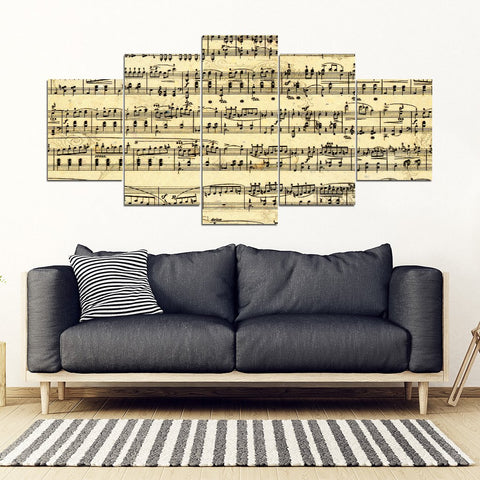 Sheet Music Framed Wall Art. 5 Frames