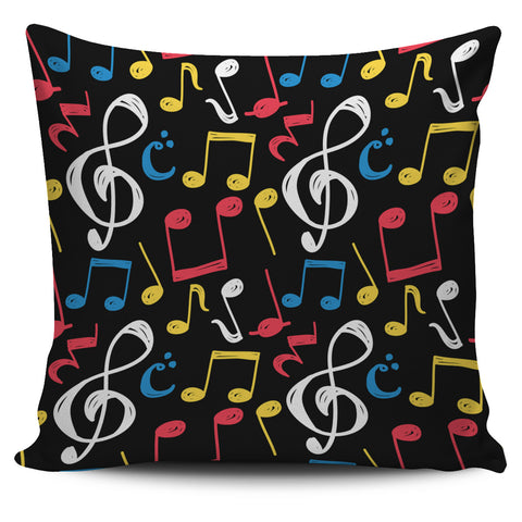 Music Notes Symbols Pillow