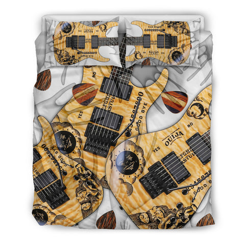 Paranormal Guitar Therapy Bedding Set for Lovers of Music & Guitars