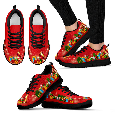 Image of Red Gifts of Christmas Women's Sneakers The Ugly Christmas Sneakers