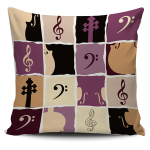 Strings and Clefs Pillow