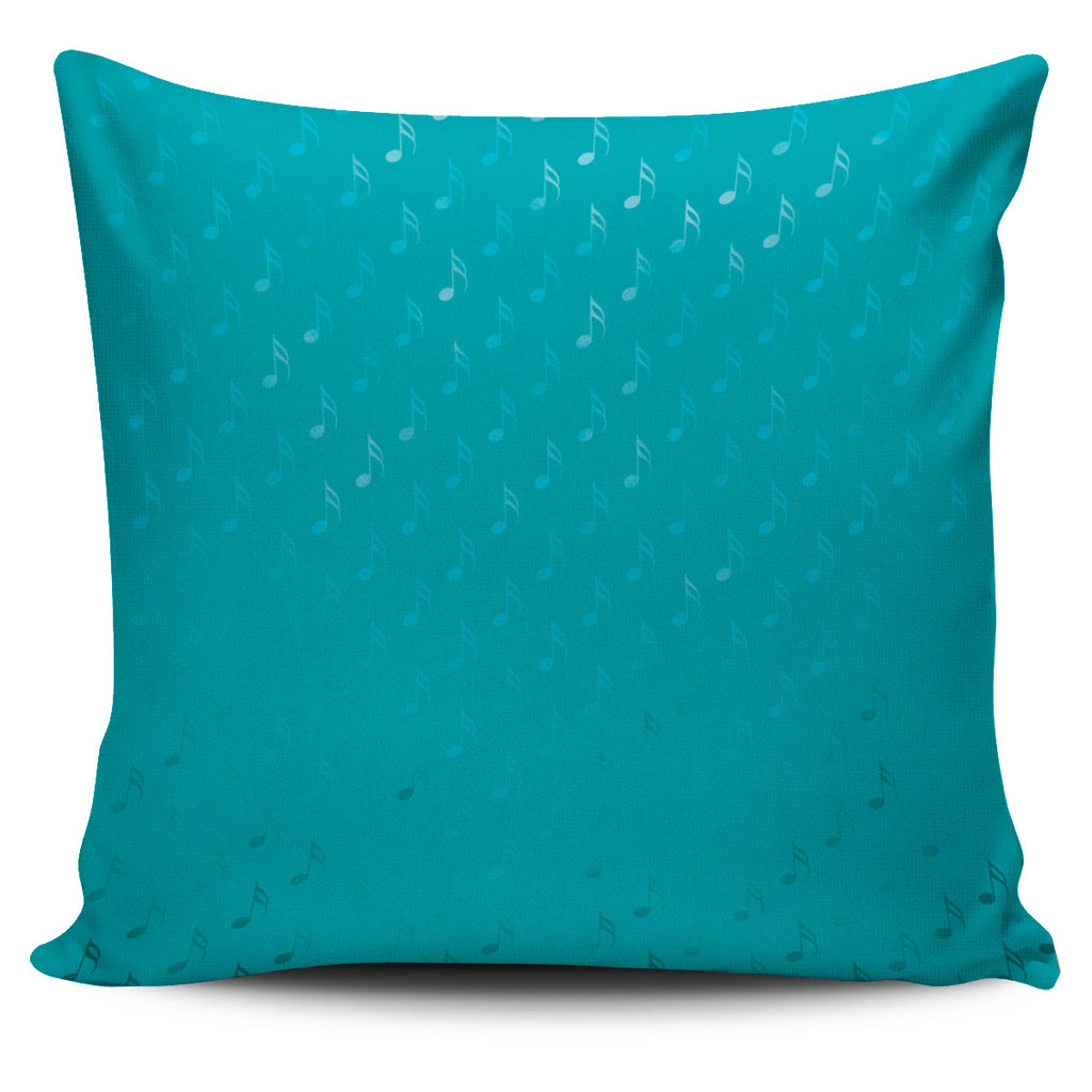 Music Note Pillow Teal