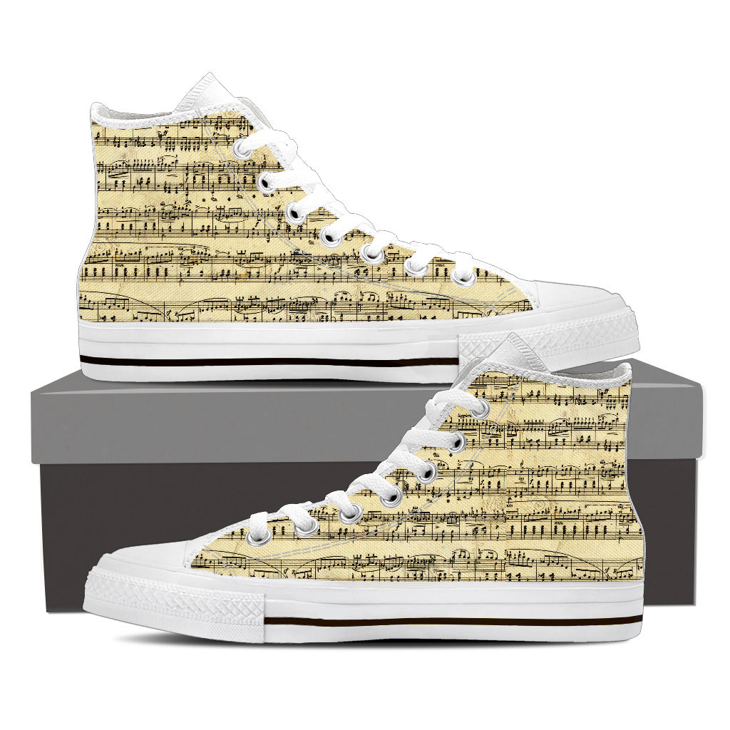 Sheet Music Womens Canvas Shoes W