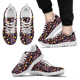 Pink & Orange Note & Clef Shoe. Mens Sneakers