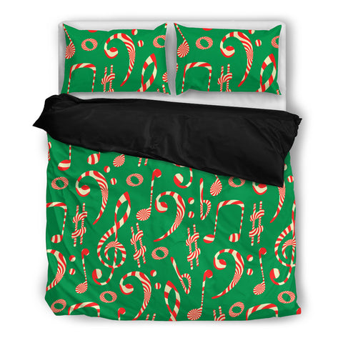 Image of Christmas Candy Notes Bedding Set