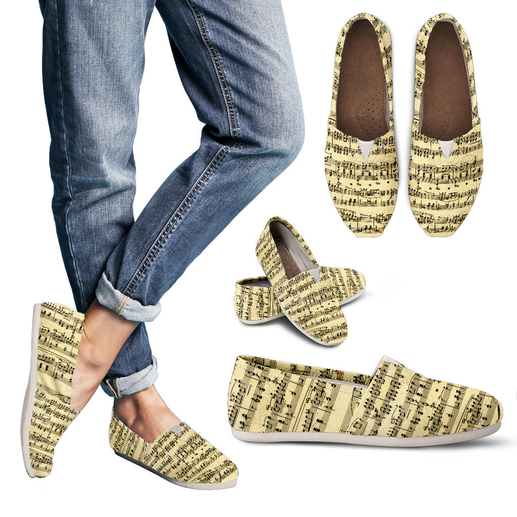 Sheet Music Design Womens Casuals Shoes