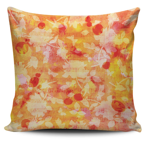Sheet Music Pillow Yellow