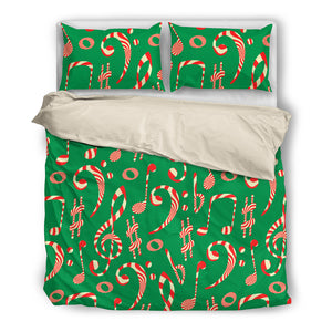 Christmas Candy Notes Bedding Set