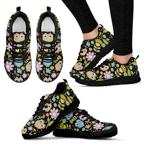 Flowers and Owls Women's Sneakers