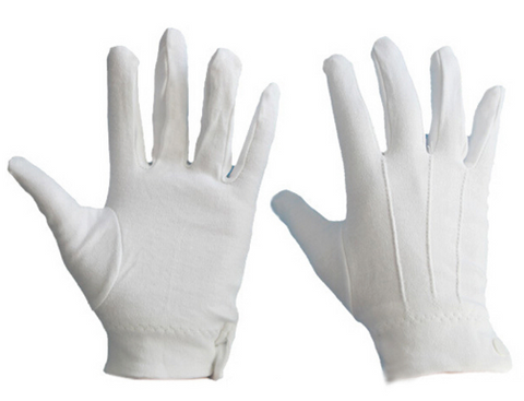 Image of White Tuxedo Gloves 1 Pair For  Marching Band & Parades